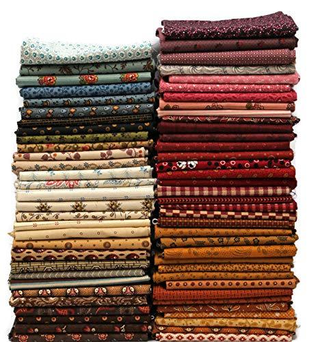 10 Fat Quarters - American Civil War Fat Quarter Bundle 1800's Historical Reproduction Quality Quilters Cotton Fabrics M228.01
