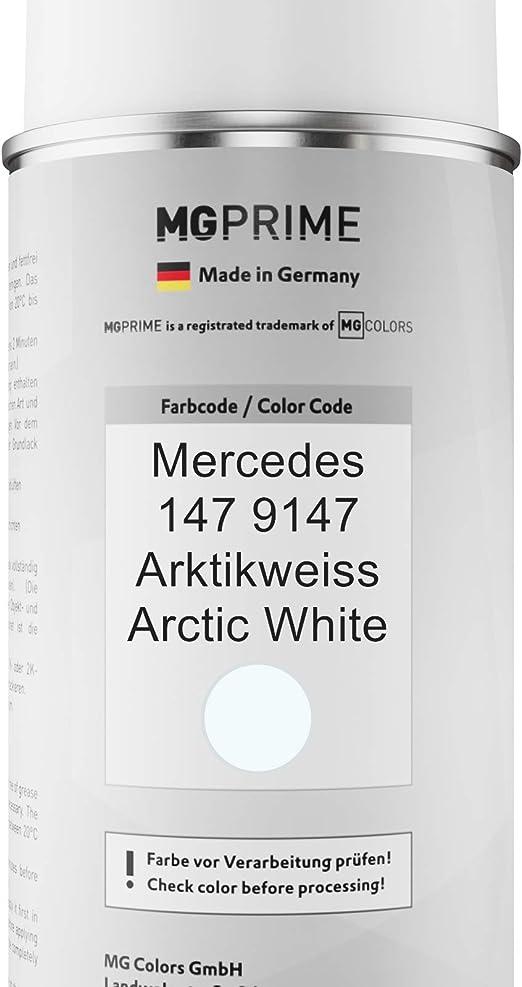 Mg Prime Autolack Sprühdosen Set Für Mercedes 147 9147 Arktikweiss Arctic White Basislack Klarlack Spraydose 400ml Auto
