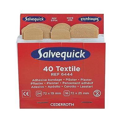 Salvequick 42045 Idóneo Recargas para el Dispensador, 40 Piezas, elástico 1.9 + 2.5 x