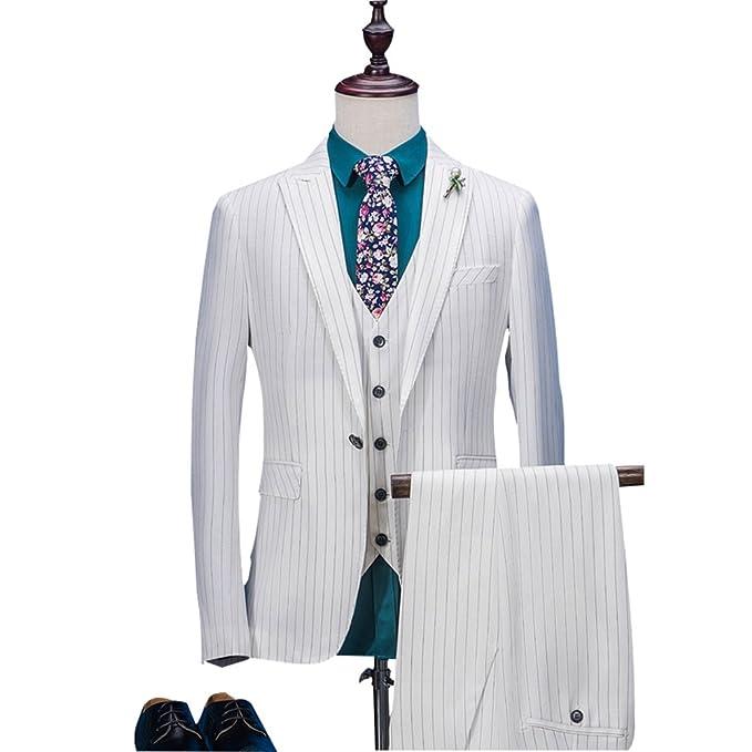 Amazon.com: White Stripes - Traje de hombre de 3 piezas ...