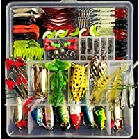 Fishing Tackle Lots,PortableFun Fishing Baits Kit Set...