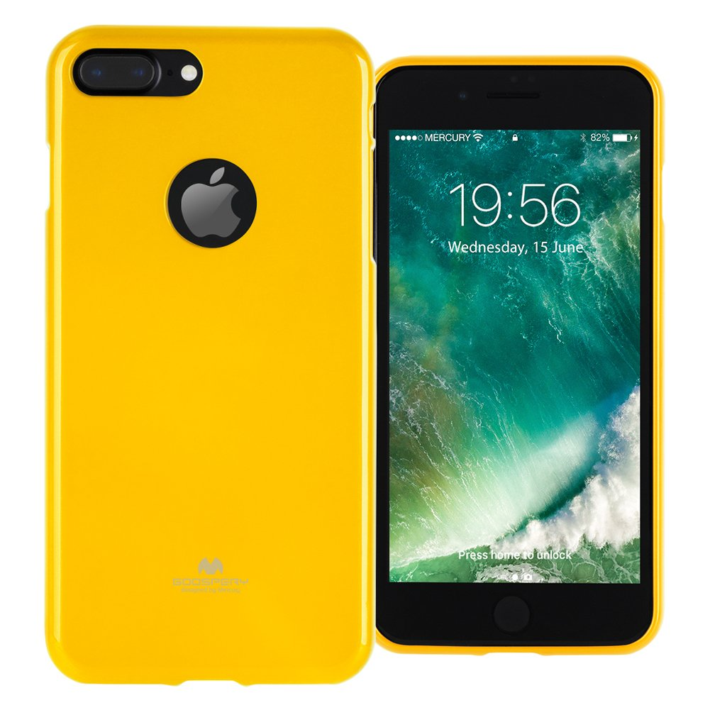Goospery Marlang Iphone 7 Plus Case Yellow 8 Pearl Jelly Free Screen Protector Slim Fit Tpu Flexible Protection Bumper Cover