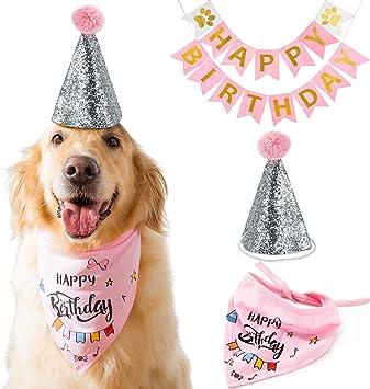 Amazon.com: Hippie - Bandana de cumpleaños para perro con ...