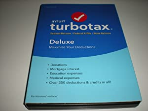 Turbo Tax 2016 Tax Year Old Version 508104 Deluxe Fed EfileState Tax Year 2016