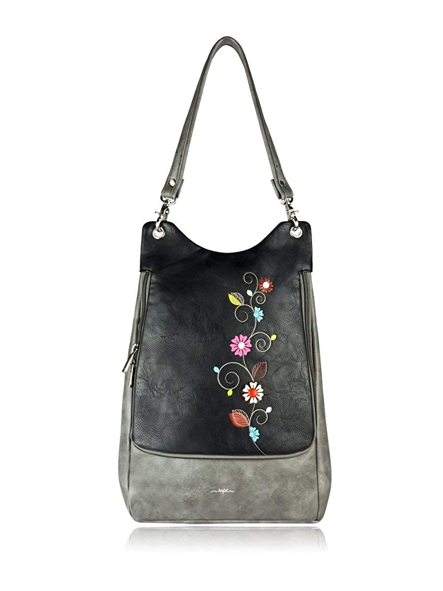 ESPE Vine Vegan Leather Backpack with Whimsical Floral Motif
