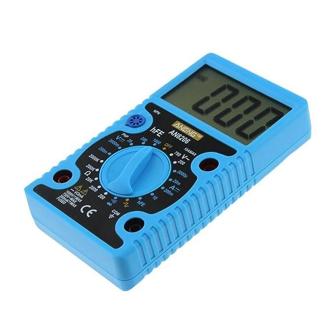 LtrottedJ AN8206 - Multímetro digital (pantalla grande, amplificador): Amazon.es: Bricolaje y herramientas