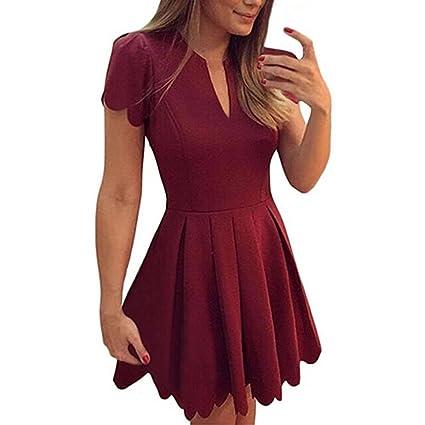 e5d0525251 Image Unavailable. Image not available for. Color  Pocciol Women Summer  Mini Dress