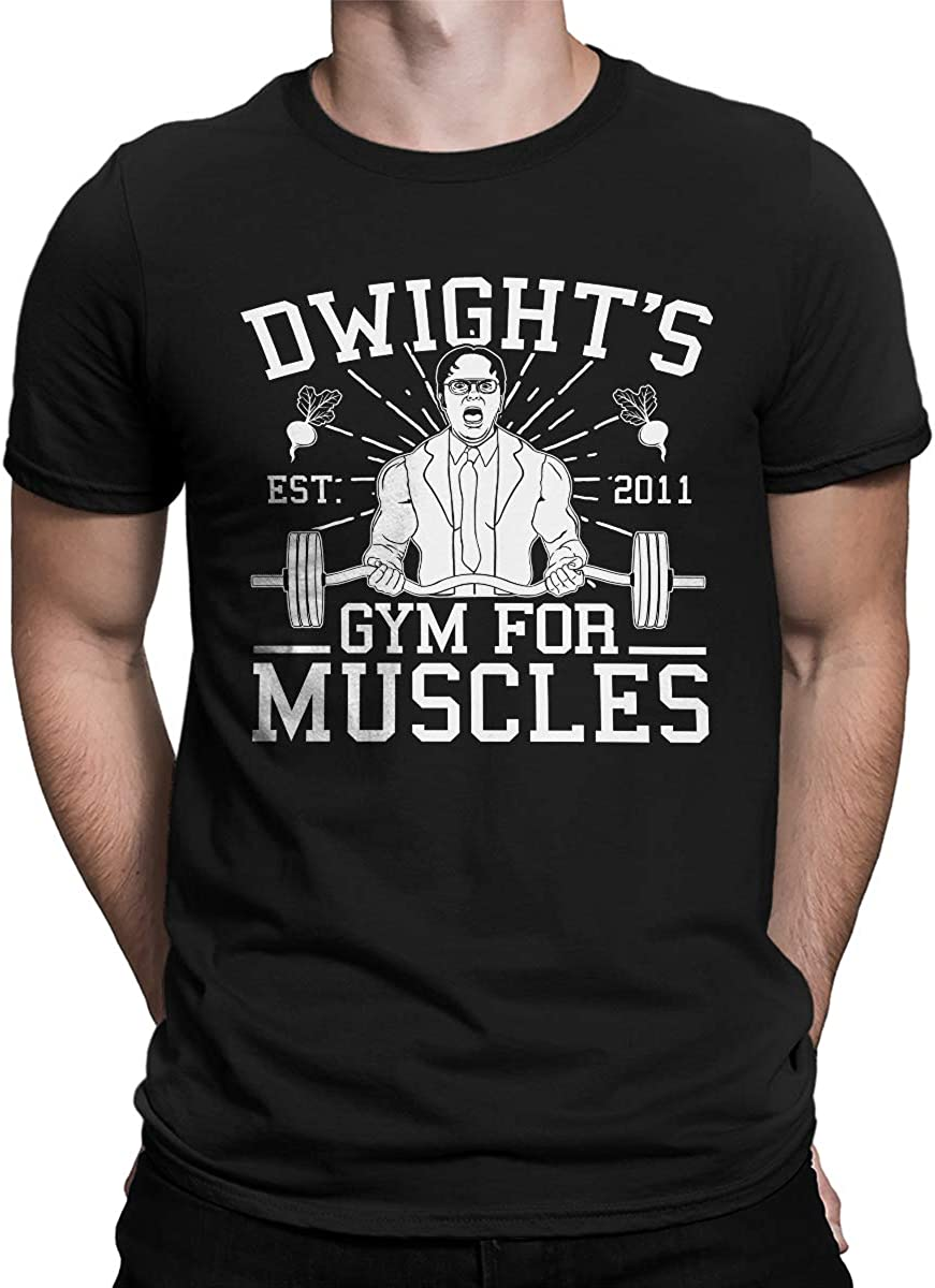 SpiritForged Apparel Dwight's Gym for Muscles Men's T-Shirt