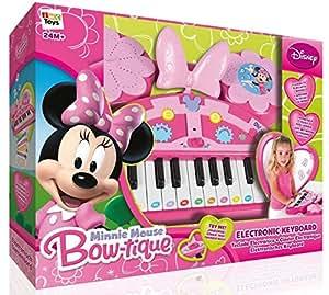 Disney - Piano/teclado electrónico con diseño Minnie, 40 x 32 cm (IMC Toys 180864)