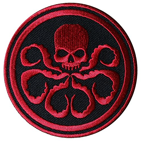 Hook Round Red Hydra Cosplay Tactical Patch