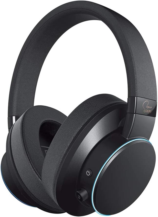 Creative SXFI AIR Bluetooth and USB Headphones with Super X-Fi Audio Holography Technology, 50mm Drivers, microSD Card Reader, Touch Controls and Ambient Monitoring (Black)