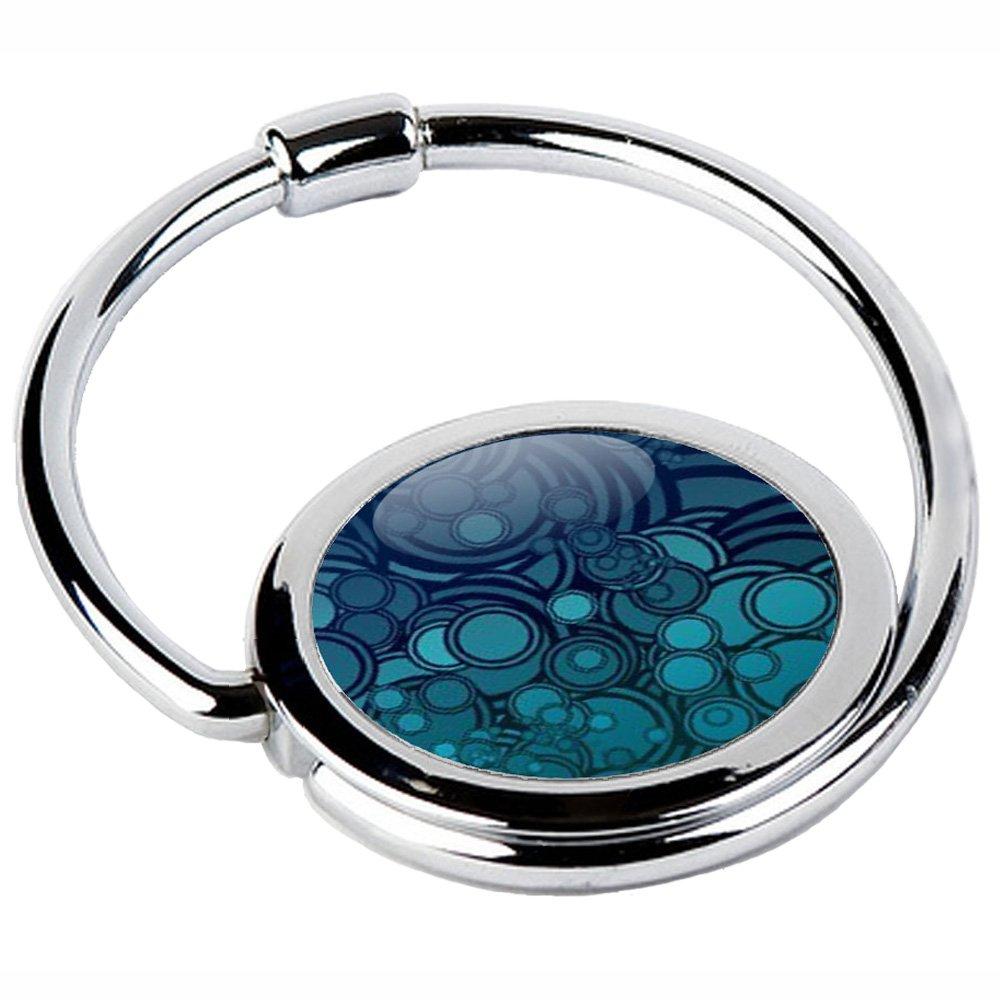 Miss Kha - Accroche Sac Pliable Psychédélique Bleu CIRCLE-41