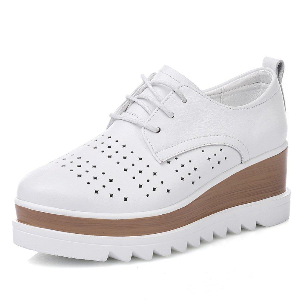 HAIHAI Aufziehen Brock Sie Schuhe Von England,Verdicken Sie Brock Plateauschuhen,Leder Flach Dünn Schuhe,Freizeitschuhe A 15a770