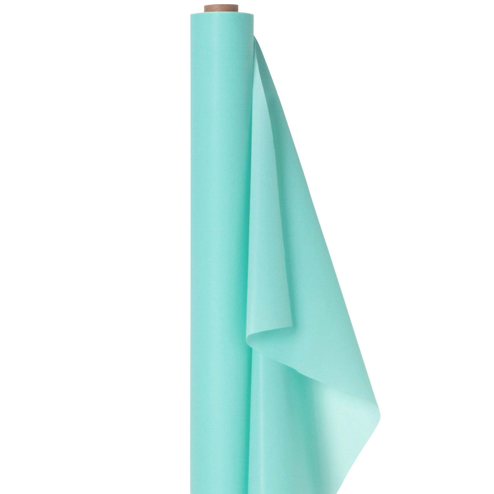 Amscam 77020.121 Solid Roll party-tablecovers, 40'' x 100', Robin's-egg Blue