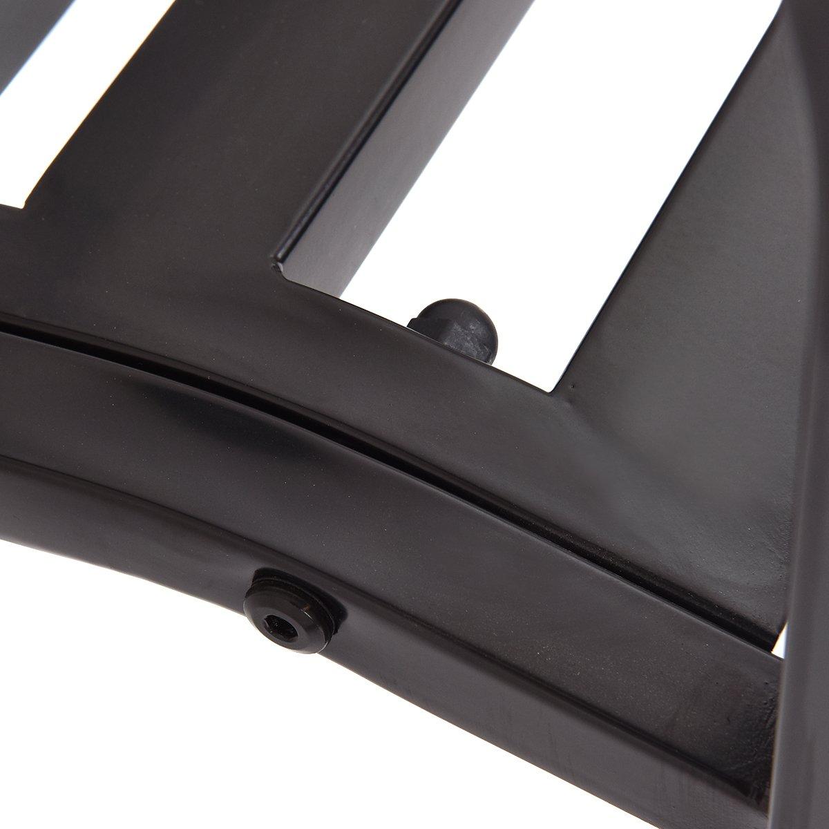 Giantex 50'' Patio Garden Bench Loveseats Park Yard Furniture Decor Cast Iron Frame Black (Black Style 1) by Giantex (Image #5)