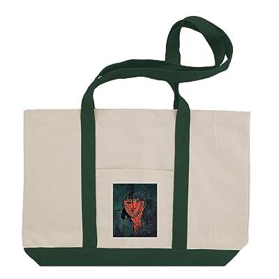 60%OFF Head (Modigliani) Cotton Canvas Boat Tote Bag Tote