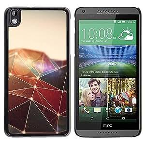 Be Good Phone Accessory // Dura Cáscara cubierta Protectora Caso Carcasa Funda de Protección para HTC DESIRE 816 // Polygon Triangle Design