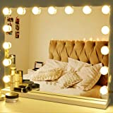 Zdorzi Vanity Mirror Makeup Mirror with Lights,Large Hollywood Lighted Makeup Mirror with USB Outlet,3 Color Modes,Touch…