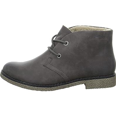 ea80f5de1769 s.Oliver Damen Desert Boots 26111-21,Frauen Stiefel,Halbstiefel,Schnürboots