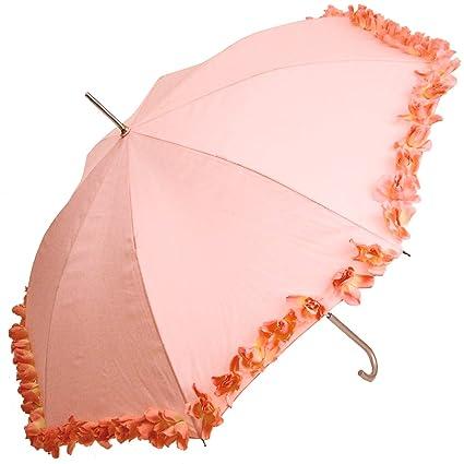 Rose Bud paraguas toldo Ladies elegante plata mango resistente de acero