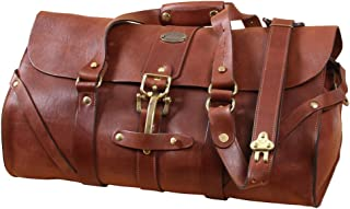 product image for Full-Grain Leather Duffle Carry-on, No. 1 Grip Travel Bag | USA Made | Col Littleton