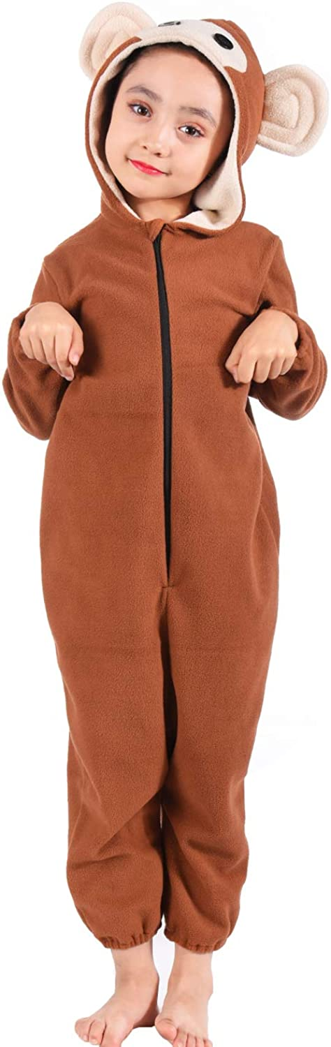 Kids Monkey Onesie Pajamas Animal Monkey Costume for Boys Girls Child