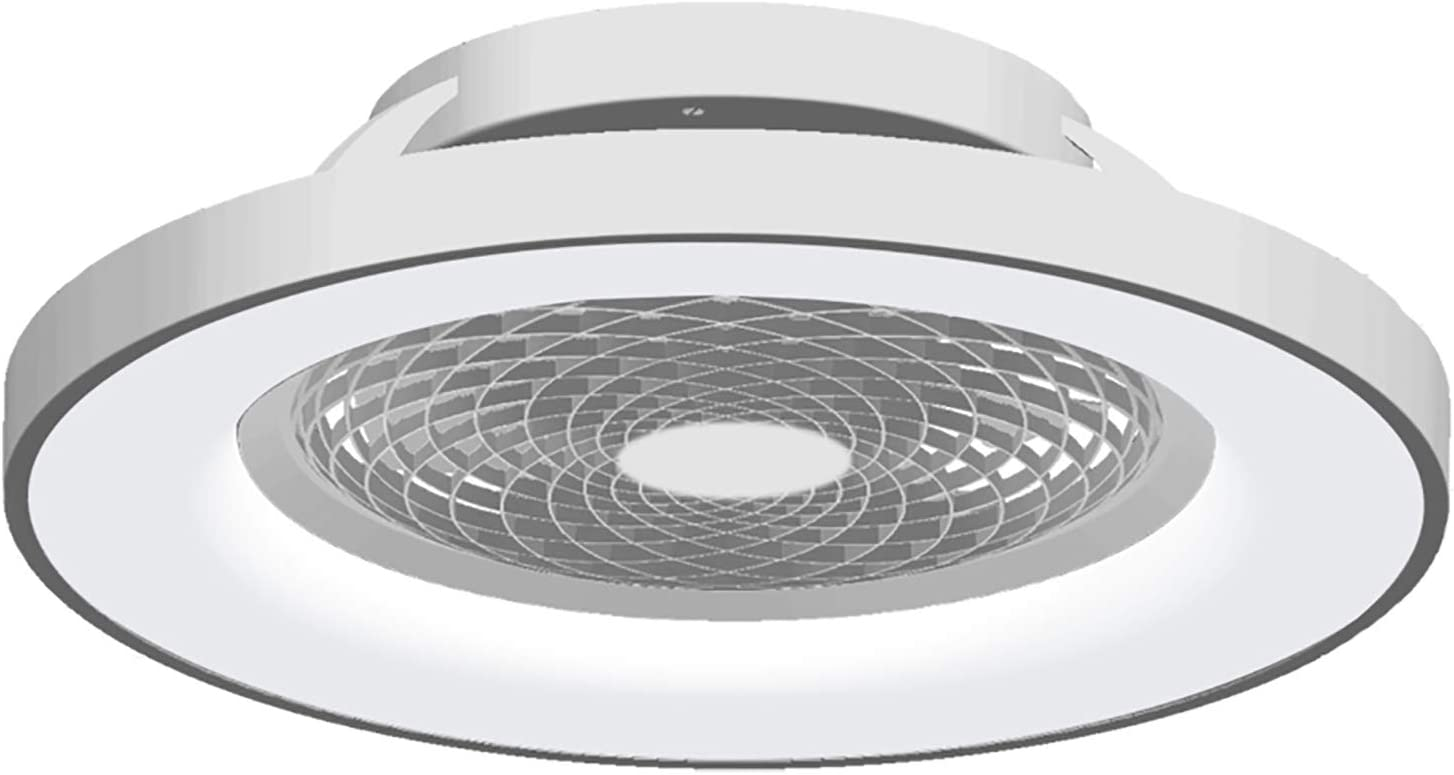 Ventilador de techo Tibet LED Mantra Plata con Mando: Amazon.es ...