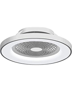 Ventilador de techo Tibet LED Mantra Blanco con Mando: Amazon.es ...