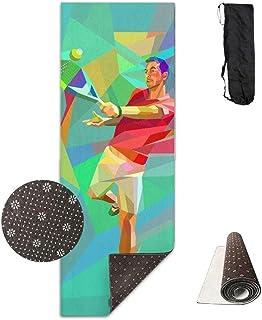 Vercxy - Esterilla de Yoga (Forro Antideslizante, fácil de Limpiar, sin látex, Ligera y Duradera, 180 x 61 cm)