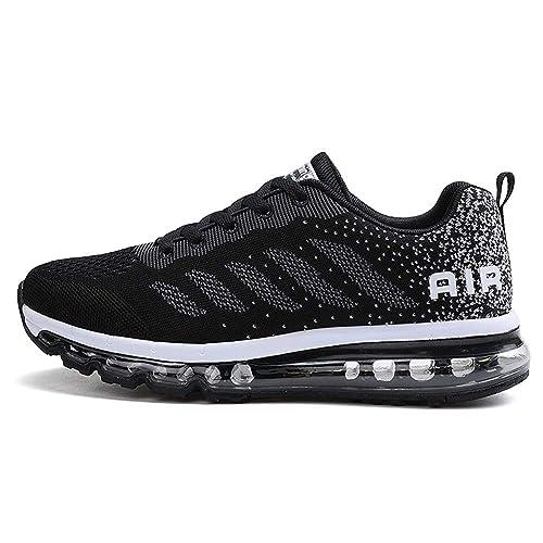 diseño de calidad b648e 5c53e Zapatillas de Deportes Hombre Mujer Zapatos Deportivos Aire Libre para  Correr Calzado Sneakers Gimnasio Casual