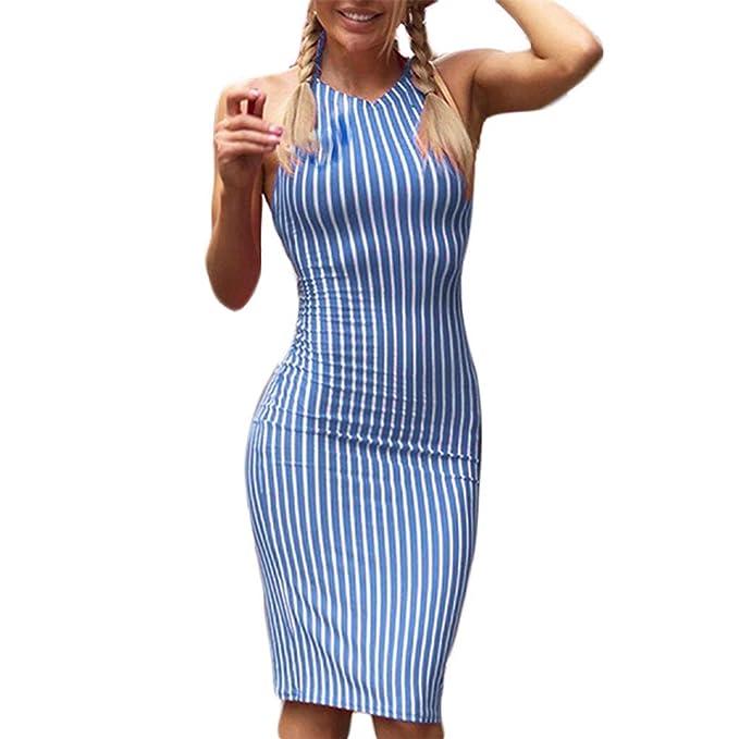 00e194fbf1 Siswong Vestito Donna Elegante Vestiti Donna da Maniche Corti Abito ...