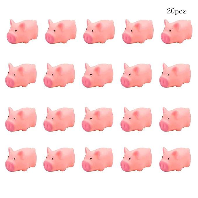 Amazon.com: TTBD - 20 piezas de juguete de goma, color rosa ...