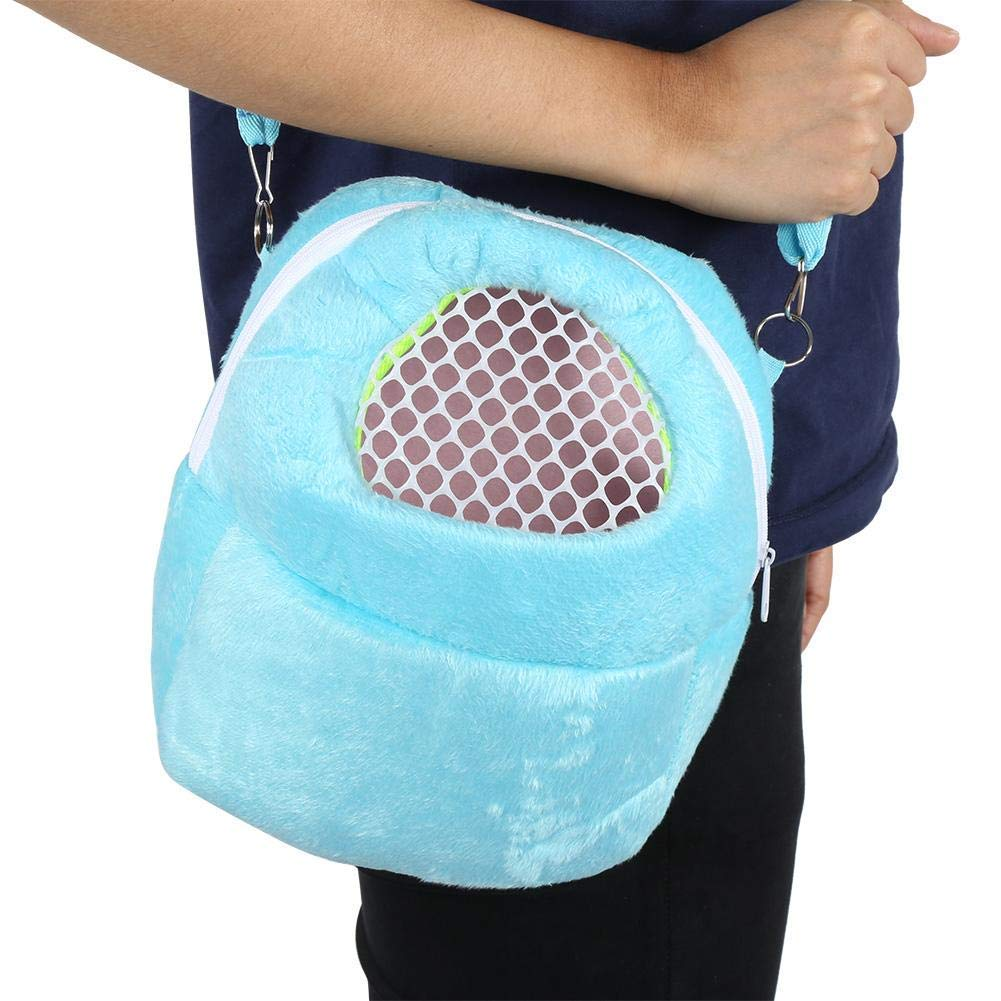 HEEPDD Pet Carrier Bag Hamster Carrier Portable Breathable Outgoing Travel Bag with Shoulder Strap for Small Pets Hedgehog Sugar Glider Squirrel Rabbit Pink S