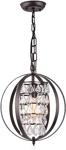CHICLUX Spherical Crystal Chandelier Industrial Pendant Lighting