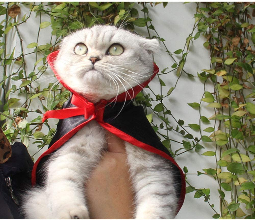 BAINA Pet Halloween Costumes Wizard Hat Cat Cape Dog Cosplay for Party Festival Prop Halloween Fancy Dress