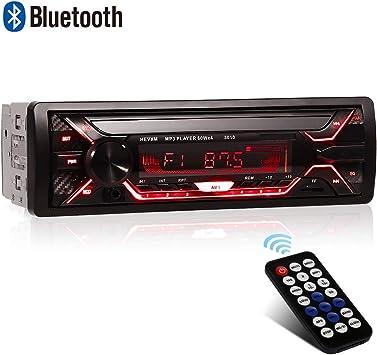design élégant répliques la moitié Autoradio Bluetooth, 1 Din Radio de Voiture, 4x60W Poste Radio 7 Couleurs  FM Stéréo Radio USB/SD/AUX/EQ/Lecteur MP3 Autoradio
