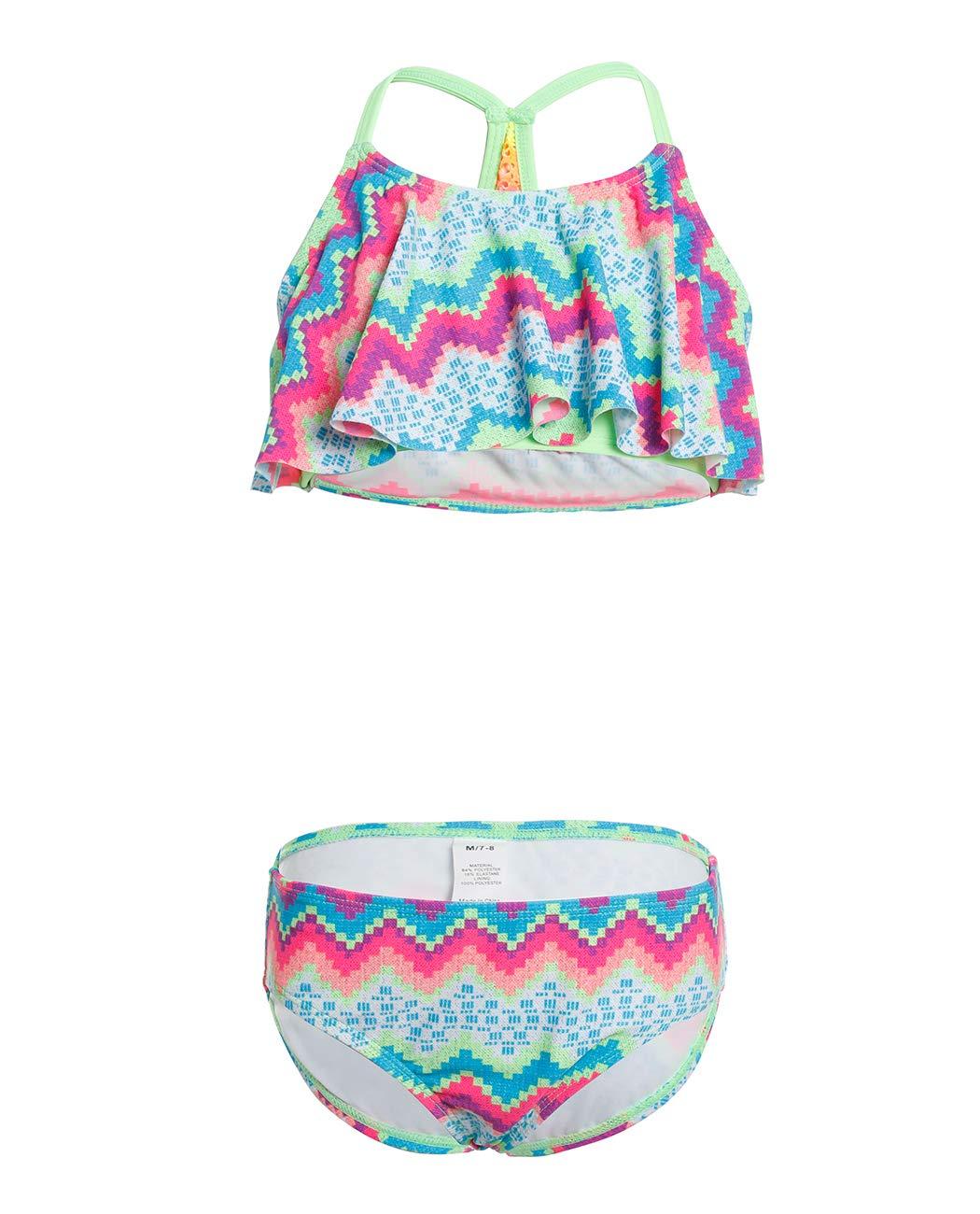 iDrawl Girls Swimwear, Two Piece Rash Guard Beach Sporty Swimsuits