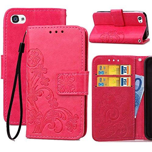 iPhone 4s Wallet Case,4S Wallet Flip Case,Wild Wolf Flower