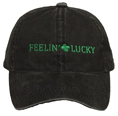 b9eca55e676 Funky Junque Irish Green Shamrock ST. Patrick s Day Party Baseball Cap  Saying Hat - Black