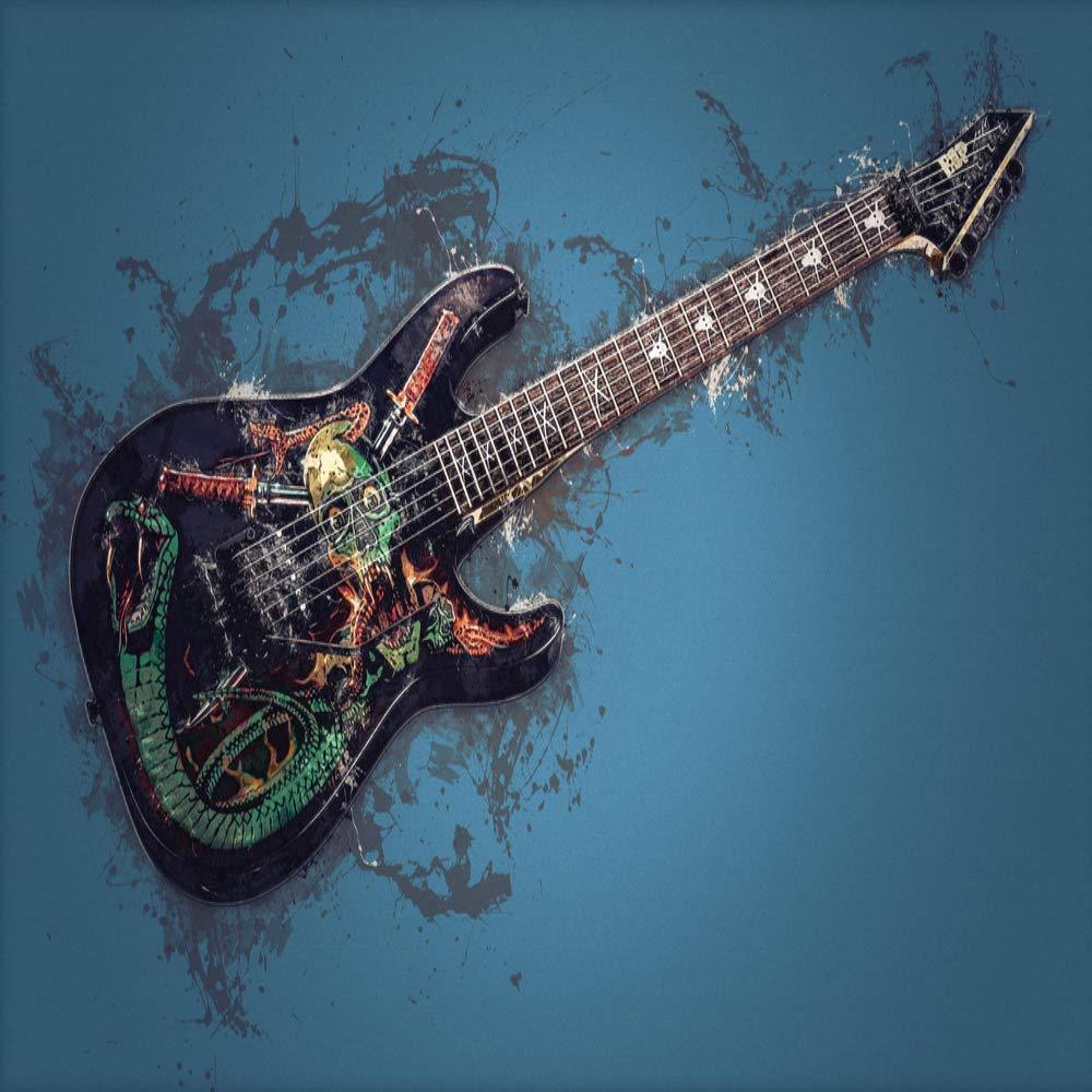 STAY TRULY Moderna Personalidad Moda Rock Retráctil Lienzo Guitarra Eléctrica Pintura, Hotel Club Casa Decoración Mural 90X60cm: Amazon.es: Hogar