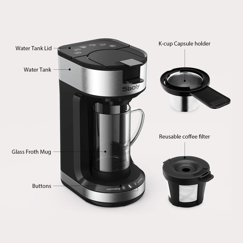 Amazon.com: Sboly - Cafetera de una sola porción con ...