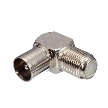 90 Degree Right Angled TV Plug Coax Coaxial F Connector Male Aerial Plug Cable