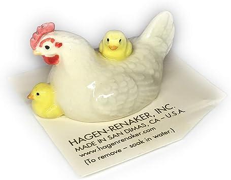 Hagen-Renaker Figura de gallina con Pollitos: Amazon.es: Juguetes y juegos
