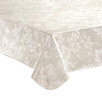 Ivory Grapevine Vinyl Tablecloth (60x84u0026quot; ...
