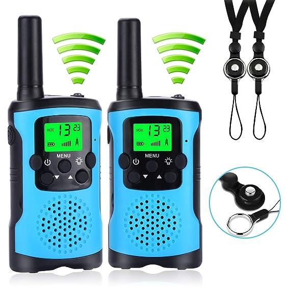 Walkie Talkie Kinder, COSYLIFE Walkie Talkies Set Funkgerät für kinder mit Lanyard, PMR446 Walky Talky mit Taschenlampe 3KM R
