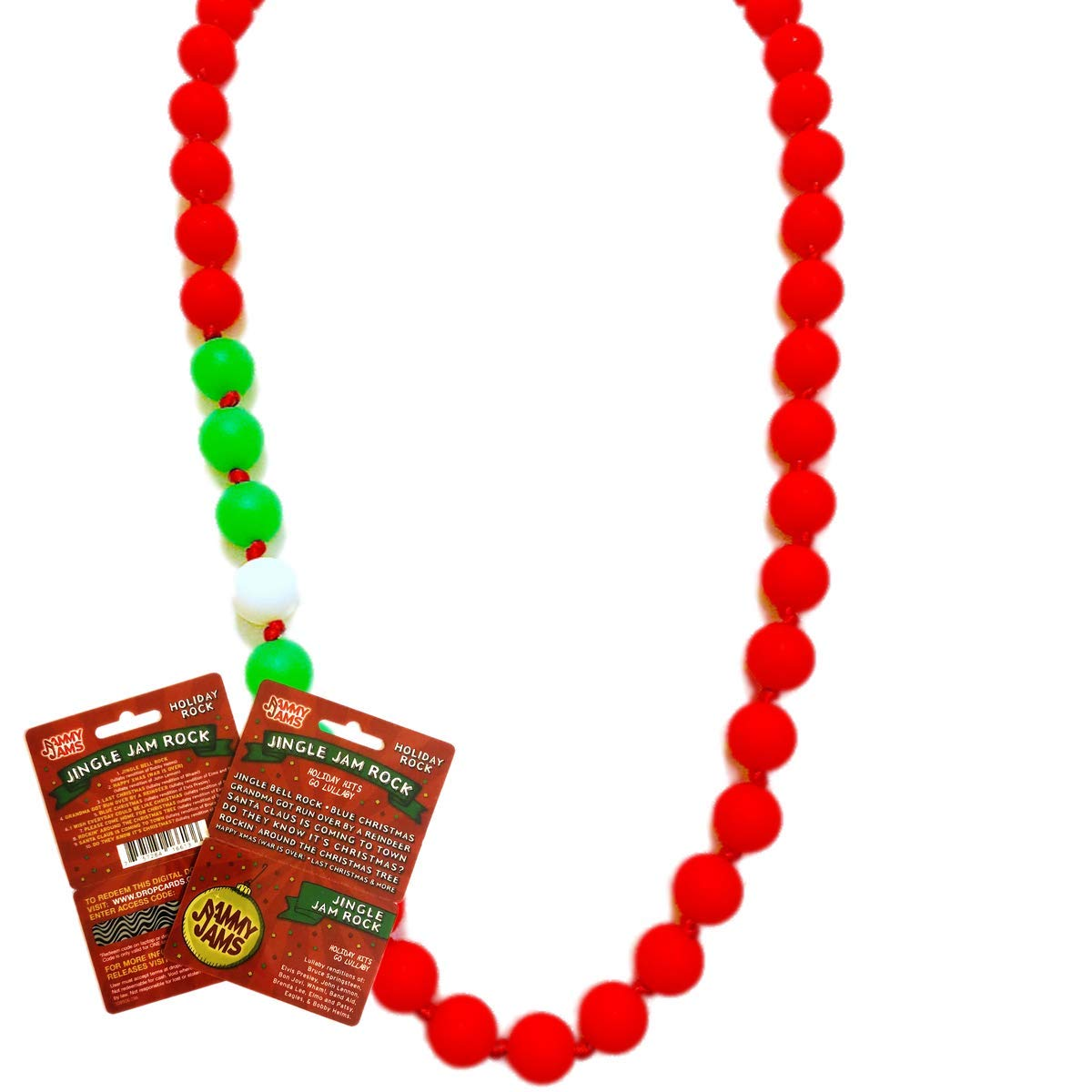 Holiday Hits Go Lullaby Download Card Candy Cane Red Holiday Party Lola Teething Necklace w//Jammy Jams
