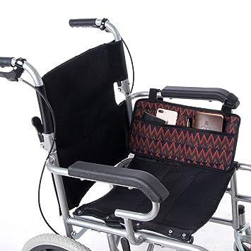 QEES - Bolsa lateral para silla de ruedas con 6 ...