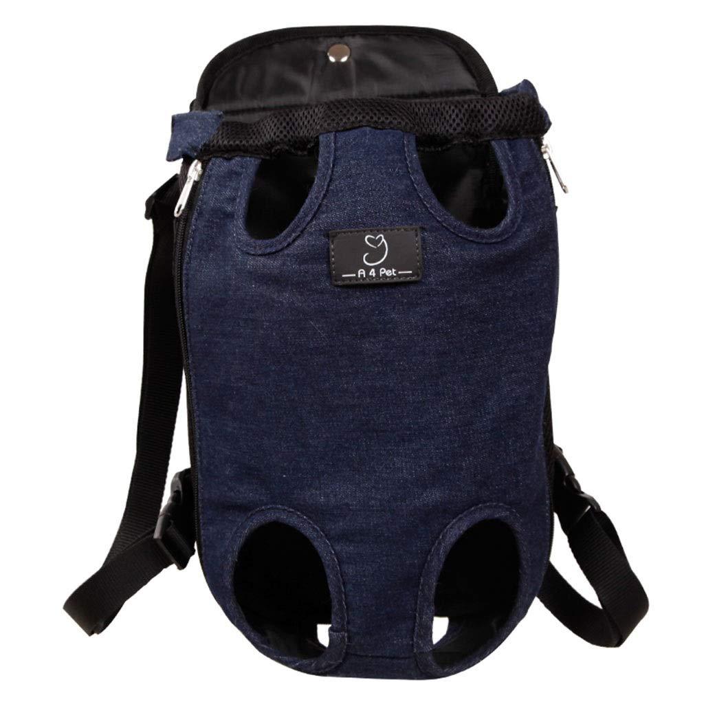 Black 19.51039cm Black 19.51039cm Cages, Crates & Carriers Pet Backpack Dog Strap Bag Chest Shoulder Bag Portable Cat Backpack Multi-Functional Breathable Pet Bag Load-Bearing 8KG (color   Black, Size   19.5  10  39cm)