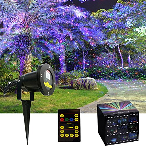est RGB Three Color Firefly Laser Lights For Garden Tree ...