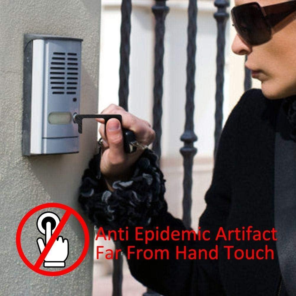 MOOHOP Anti-G/éRmenes Higiene Abrepuertas Manual,Mano De Higiene Saludable,No T/áCtil Herramienta De Protecci/óN Abierta Elevador Port/áTil Bot/óN Caj/óN Tirador De Puerta